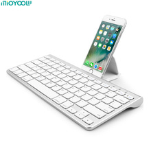 Mini Wireless Keyboard for Apple iPhone iPad Android Bluetooth Keyboard klavye PC Tablet Laptop Keyboard for iPad Air2 Pro 10.5