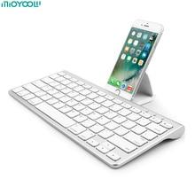 Mini teclado inalámbrico para Apple iPhone iPad Android teclado Bluetooth klavye ordenador tableta teclado para ordenador portátil para iPad Air2 Pro 10,5