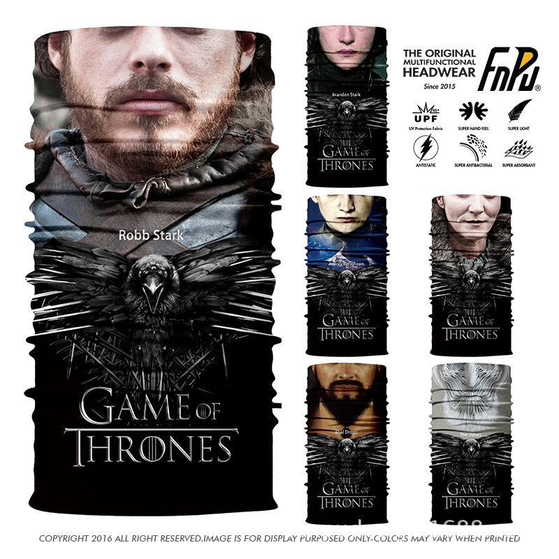 3D Human FACE Balaclava Game of Thrones Seamless Bandana Women Outdoors Scarf Unisex Cycling Bandana Skull Headband 100PCS/lot