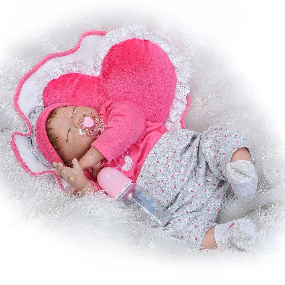 Bebe poupée Reborn NPK 22 pouces 55 cm silicone reborn bébé poupées réel sommeil nouveau-né fille poupées cadeau boneca reborn