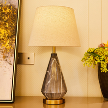 Black Gray Table Lamps For The Bedroom Ceramic Lamp Bedside Home Deco LED