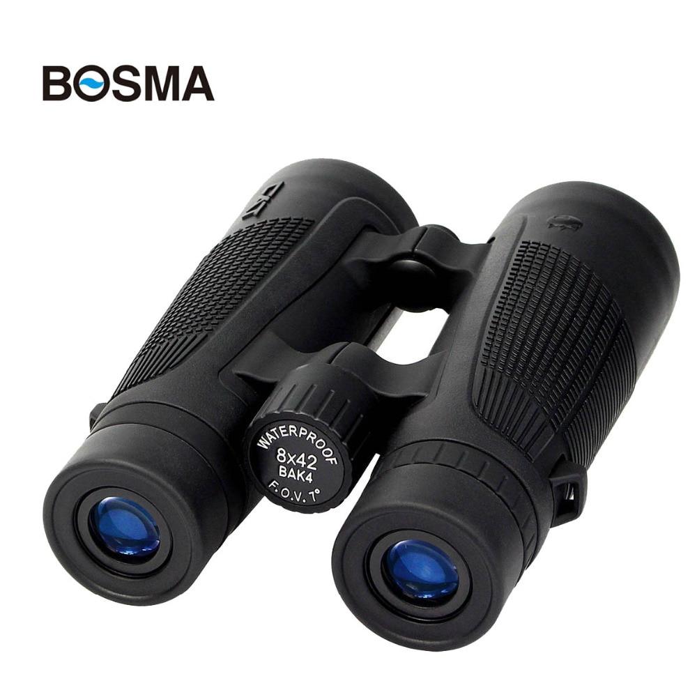 BOSMA Binocular 8X42 HD Telescope BAK4 FMC Fully Multi-coated Waterproof Fogproof Binocular Camping Hiking Tourism Travel W2771  цены