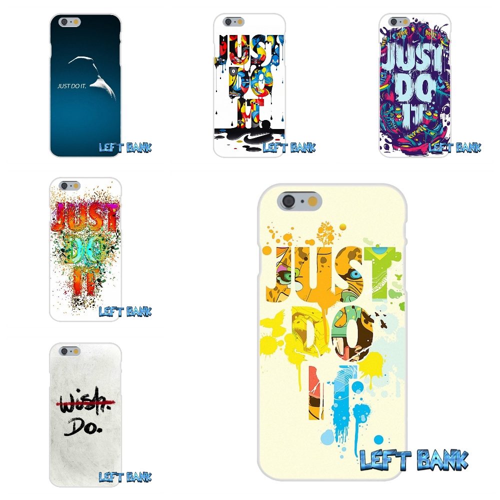 Just Do It Art Dazzle Color Cool Soft Silicone TPU Transparent Cover Case For iPhone 4 4S 5 5S 5C SE 6 6S 7 Plus ...