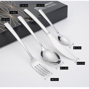 Image 5 - 24 pièces couverts ensemble haute qualité miroir polissage 18/10 acier inoxydable couverts ensembles argenterie vaisselle cuillères/couteaux boîte cadeau
