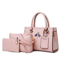3PCS Leather handbags large tote bags for women 2018 purses and handbags female messenger shoulder bag famous brand hand bags