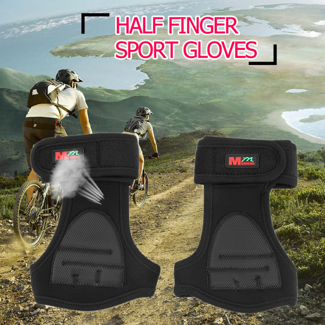 Men's Outdoor Sport Bicycle Fitness Gloves Mitts Male Half Finger Neoprene Gloves Mittens free shipping