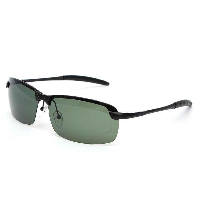 49a4b61894 ... Bobing Outdoor Sports Anti UV Fishing Sunglasses Dark Green Metal Frame  Polarized Sunglasses Fishing Eyewear ...