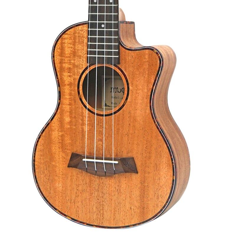 Kits ukulélé de Concert 23 pouces en acajou Uku 4 cordes Mini guitare hawaïenne avec sac accordeur Capo sangle pique choix pour débutant Mu - 6