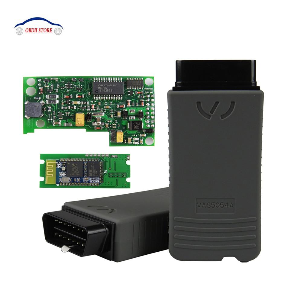 Действие vas5054a OKI полный чип СОСТС 5054a ОДИС В4.13 obd2 диагностический сканер VAS5054 поддержки uds вас 5054 инструмента OBD 2 автомобиля диагностический