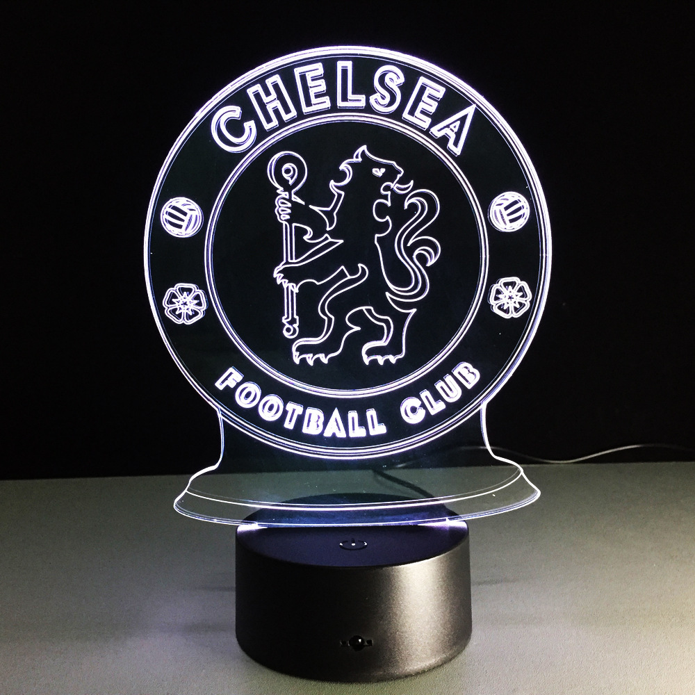 lampy led 3d kluby piłkarskie