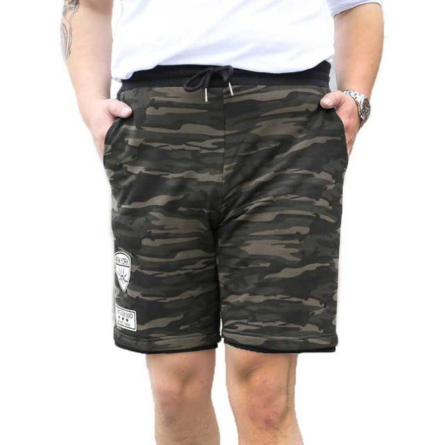 ea2e9f7d1e Men's FOG Camo Shorts Hip-hop Camouflage Summer Casual Sweatshorts Elastic  Waist Beach Shorts Plus