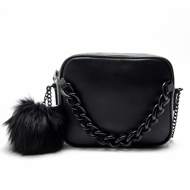 Bolsas de marcas famosas mulheres bolsa de couro cadeia de ombro saco do desenhador saco de bola de pelúcia pequeno crossbody sacos para as mulheres Sacos Do Mensageiro