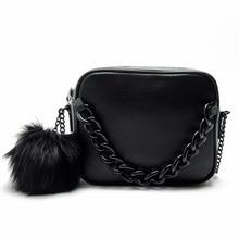 Famous brand handbags women shoulder bag designer plush ball chain leather bag small crossbody bags for women Messenger Sale