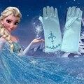 Nueva Moda Copos de Nieve Guantes Guantes de Impresión Muchachas de La Princesa Guantes Elsa Elsa Niños Niñas Guantes Cosplay Kids Accessorie