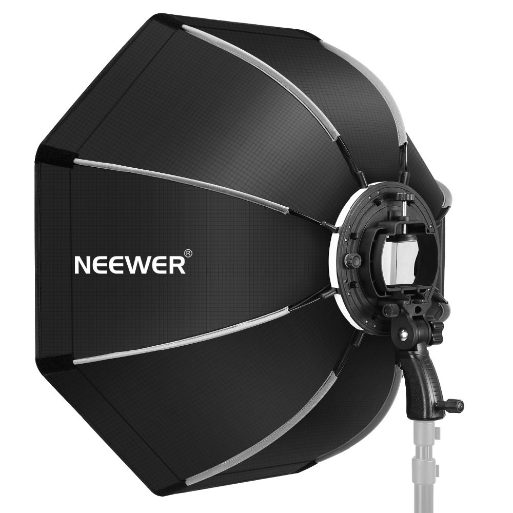 Neewer 26 Inches/65 Centimeters Octagonal Softbox With S-type Bracket Mount Carrying Case For Canon NikonTT560 NW561 NW562 NW565