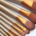 12 pcs Marca de Maquiagem Profissional Escovas Ferramentas Set Kit Para Paleta Da Sombra de Olho Cosméticos Escova Pincéis De Maquiagem Para As Mulheres menina