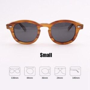 Image 4 - Johnny Depp gözlük polarize güneş gözlüğü erkekler kadınlar lüks marka tasarım asetat Vintage stil sürücü gözlük en kaliteli 080 1