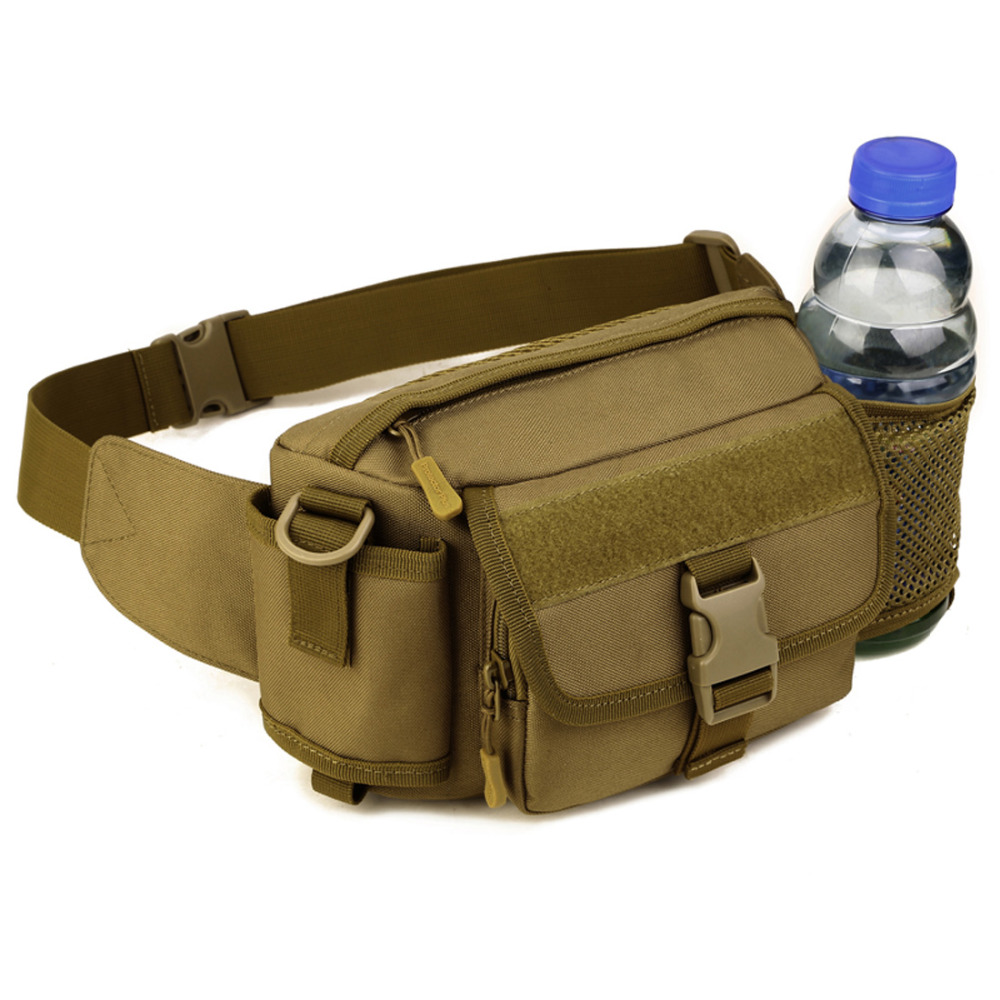 Top Quality Durable Nylon 2016 New Men Fanny Waist Pack Belt Military Male Travel Riding Assault Mole Messenger Shoulder Bag
