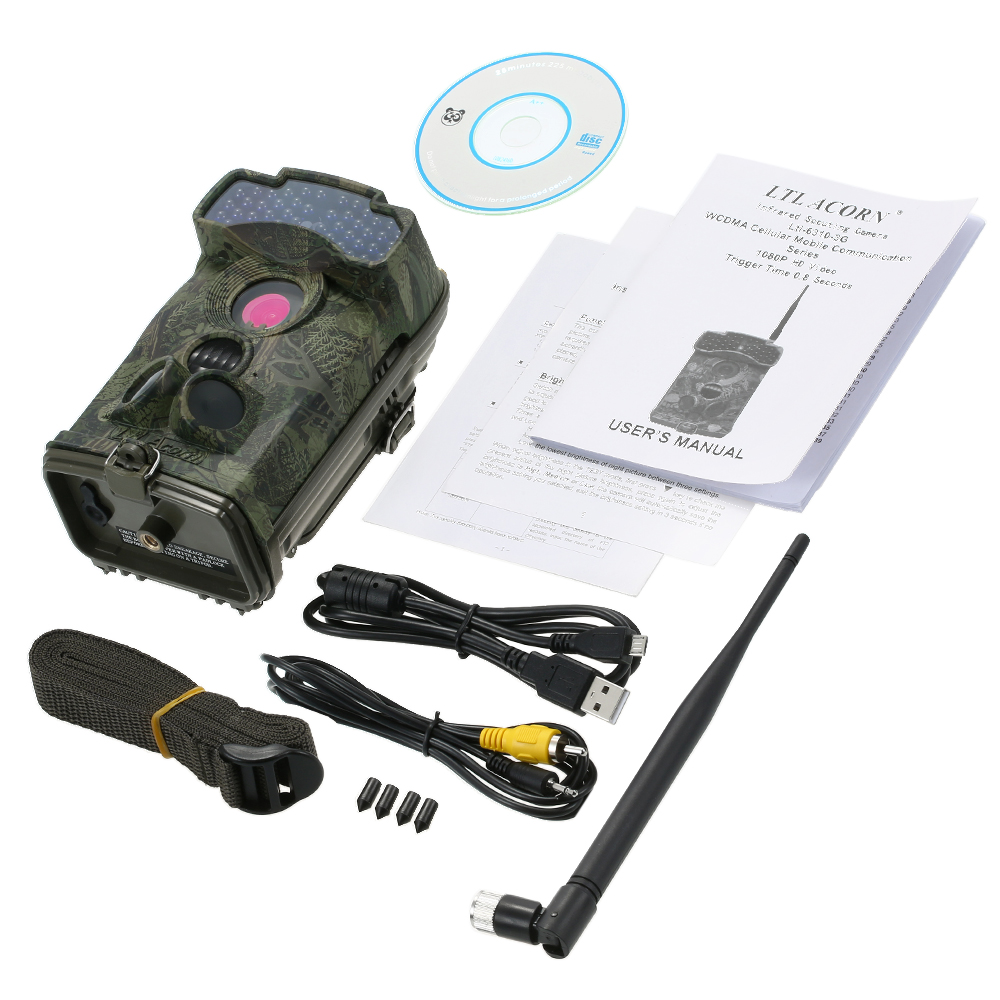 LTL ACORN 6310MG 3G Hunting Camera Photo Traps GSM MMS GPRS Wild Camera Traps 12MP 940NM IR Trail Waterproof Scouting Camcorder in Hunting Cameras from Sports Entertainment
