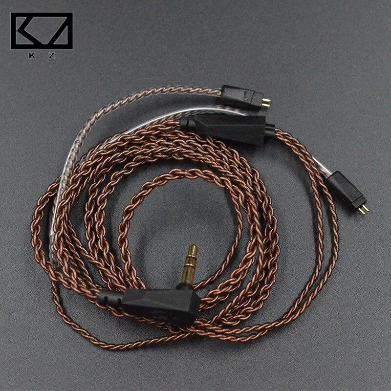 D'origine KZ Écouteurs Mise À Niveau du Câble Fil Haute-pureté oxygen free copper 2Pin 0.75mm Remplacer Câble Pour ZST/ ED12/ES3/ZS10/ZS6/ZS5