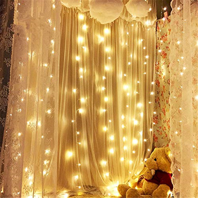 3x1/3x3/6x3m 300 LED Icicle Fairy String Lights Christmas Led Wedding Party Fairy Lights Garland Outdoor Curtain Garden Decor