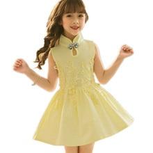 c74806033 Perempuan Gaun Elegan Vestidos Bayi Kapas Vintage Musim Panas Kostum  Anak-anak Gaun Performa Gadis Cheongsam Anak-anak Jubah Fil.
