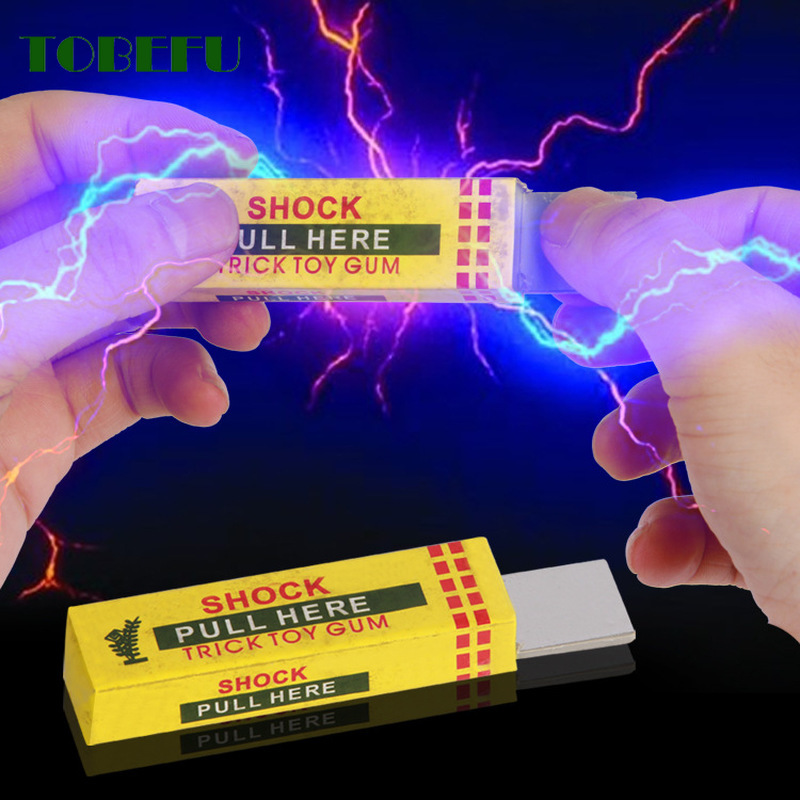 TOBEFU Electric Shocking Hand Chewing Gum Shocker Prank Trick Toy Joke Funny Novelty Toys Anti-stress Shock Gaget Gaps Toys