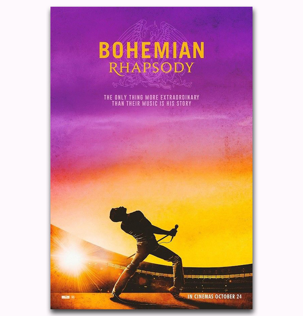 35ce0b2e32812 US $5.48 7% OFF|MQ3722 Bohemian Rhapsody Musical 2018 Movie Rami Malek  Queen Film Art Poster Silk Canvas Home Decoration Wall Picture Printings-in  ...