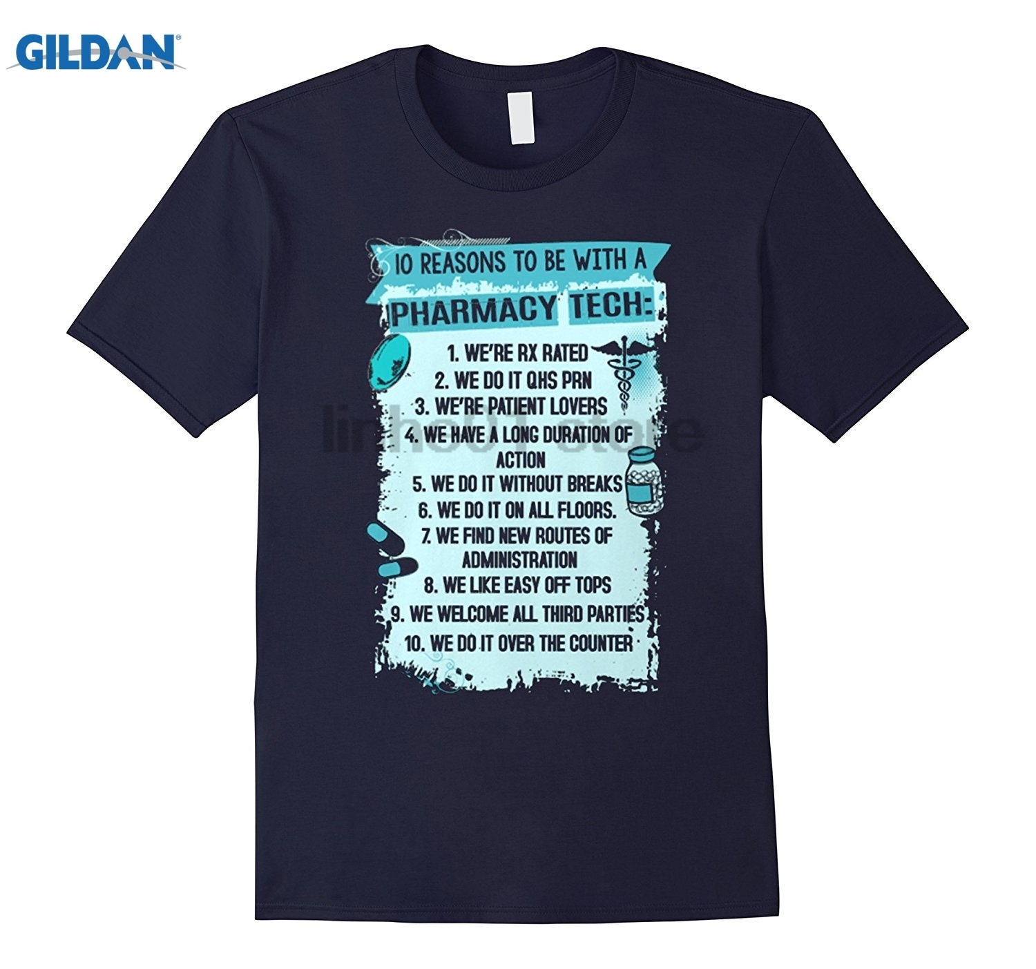 GILDAN I Am A Pharmacy Technician Funny Shirt Hot Womens T-shirt Hot Womens T-shirt