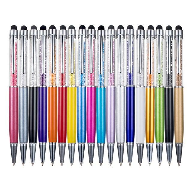 מתכתי קריסטל עט ציוד לבית ספר נייר מכתבים למשרד עט קיבול כתב יד מסך מגע יהלומי עיפרון עט כדורי