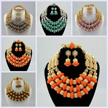 High Quality Tribal Nigerian African Stones Beads Decor For Women Wedding Party Bridal Neck Decoration 5 Colours available CK81