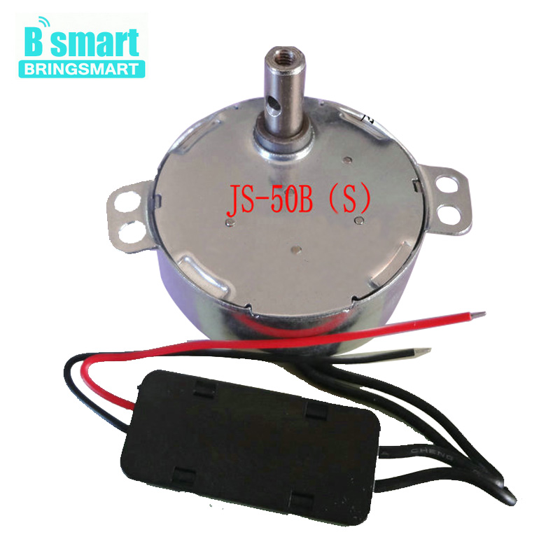 JS-50B(S)BLDC Motor DC Micro Motor 5V 6V 9V 12V 24V Synchronous Motor 50Hz 0.9-60rpm For Display Stand,Fan, Home Appliance etc