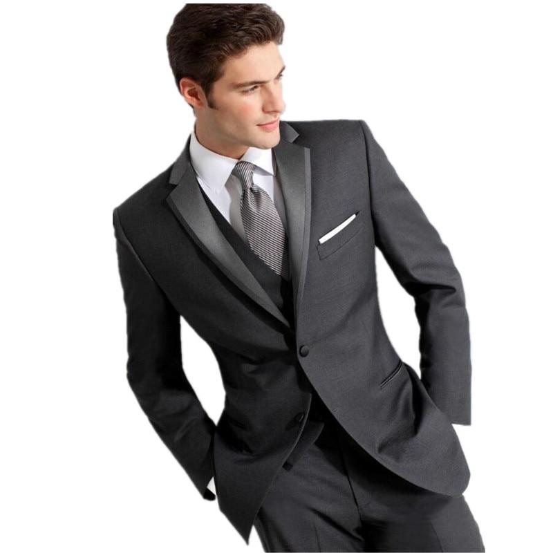 Dark Grey Prom Suits
