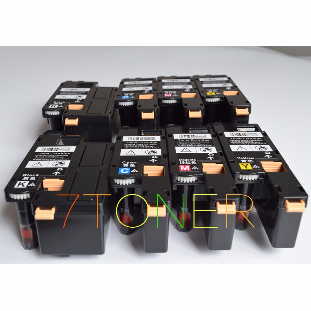 8 x cartouches de toner pour xerox phaser 6010 6010 v n 6000 6000 v