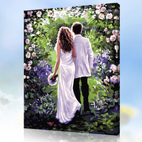 MaHuaf X056 Max Size 40x50cm Frameless DIY Oil Painting By Numbers DIY Digital Oil Painting On