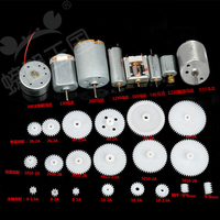 28pcs Set Motor Gear Toothed Wheel Model Accessory Processing Parts Smart Setting DIY Car Boat Plane