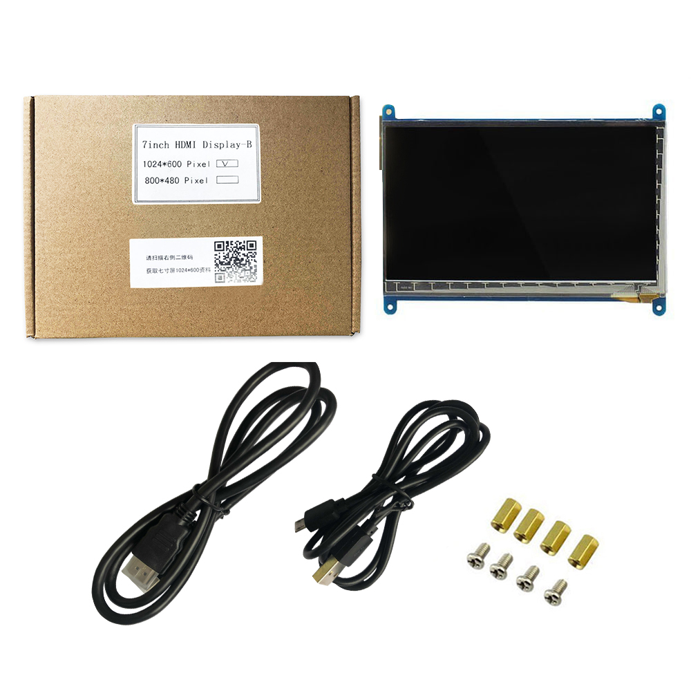 Raspberry Pi 3 Display 7 Inch Touch Screen HDMI HD LCD TFT 1024*600 (Pixel)  Monitor for Raspberry Pi 3 2B B Pcduino Win7 8