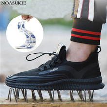 Summer Breathable Safety Shoes Of Men Mesh Lightweight Casual Work Shoes Sneakers Anti Puncture Static Electricity Work Shoes sally hunt making competition work in electricity