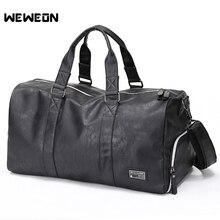 PU Мужская спортивная сумка для занятий спортом кожаная спортивная сумка для мужчин фитнес Военная тренировочная сумка большая кожаная дорожная/багажная сумка sac sport