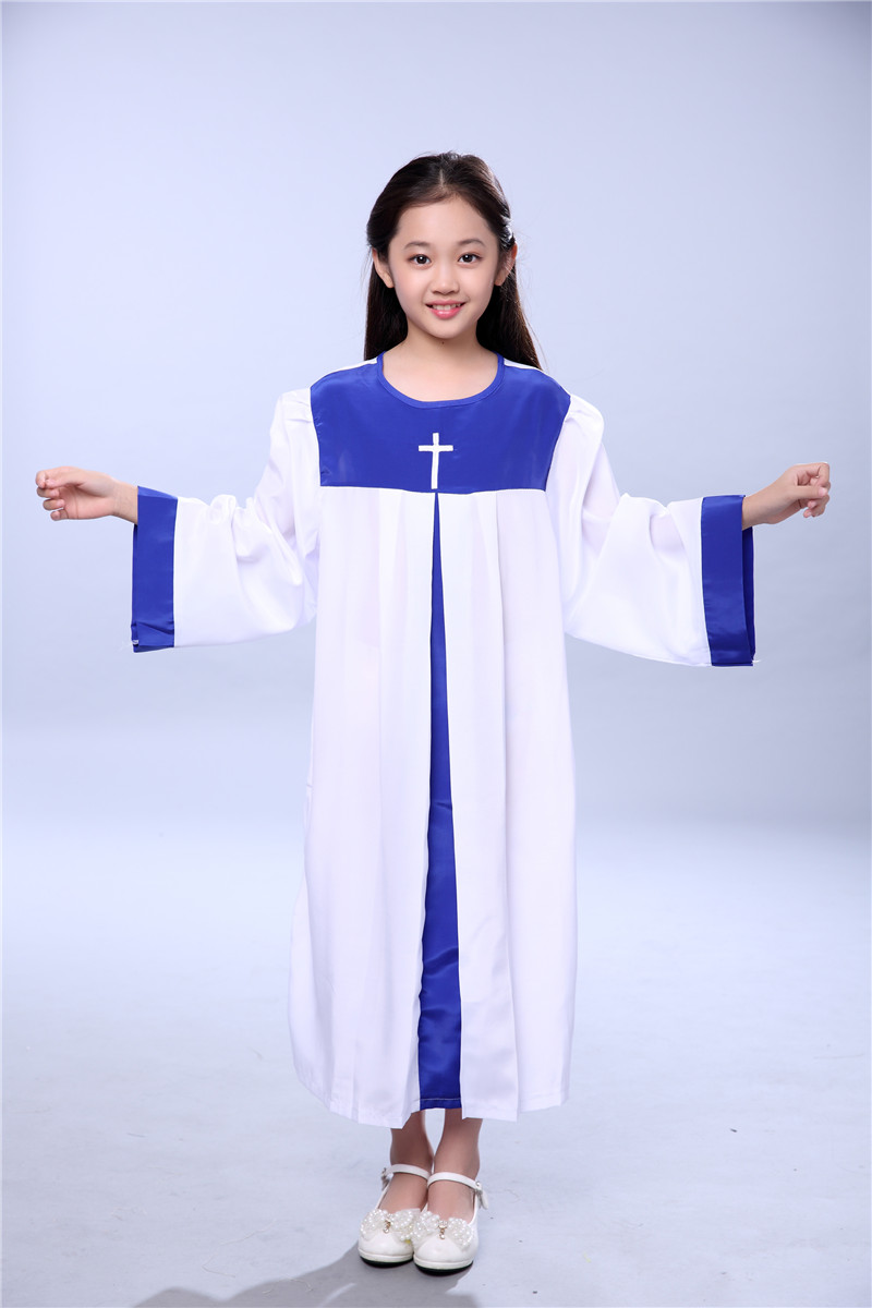 Robe Abaya Children Christian Church Hymns Clothing Robe Command Clothing Choir Nun Long Sleeved  Prayer Garment