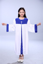 Children Christian Church Hymns Clothing  Robe Command Choir Nun Long Sleeved Prayer Garment