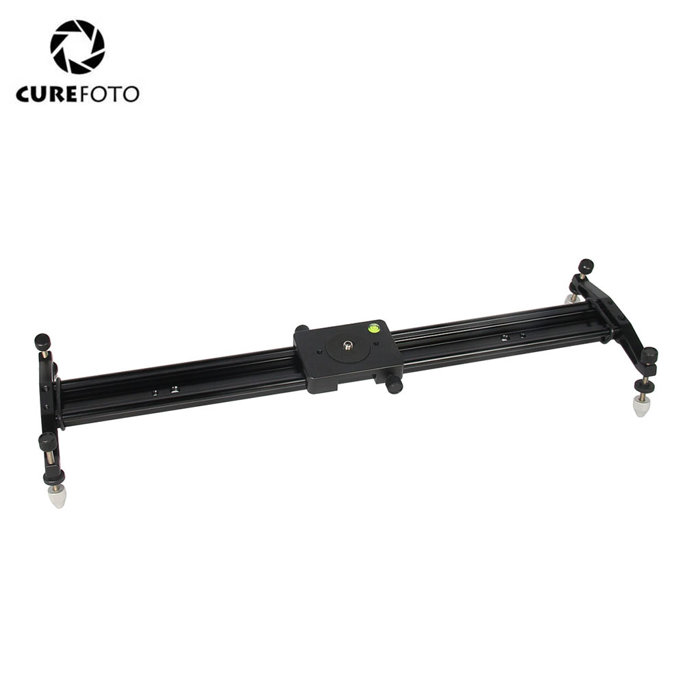 CUREFOTO 24/60CM DSLR Camera Track Dolly Slider Video Stabilization Smooth Rail System For Photography Video 6kg Load Capacity