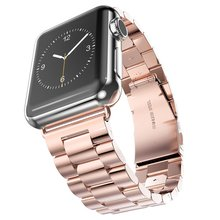 Stainless Steel strap for Apple Watch band 44mm 40mm 42mm 38mm iwatch series 4 3 2 1 link  bracele for apple watch Accessories watch band link lever ear ear screw rod for cartier pasha series watch accessories