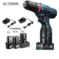 Xltown 25v Cordless Electric Drill Multi Action Mini Lithium Battery Rechargeable Electric Screwdriver Home Power Tools