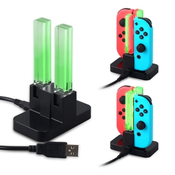 4 in 1 USB Charging Station Dock Stand with LED Indicator Type C Cable for Nintendo Switch Joy-Cons Game Console dropshipping