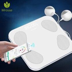 Nowa ośmioelektrodowa waga do pomiaru tkanki tłuszczowej wagi Bluetooth inteligentna inteligentna lampka usb czujnik wyświetlacz cyfrowy waga analityczna kreatywna