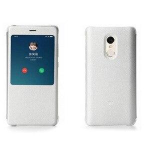 Image 3 - Original Xiaomi Redmi Note 4 4x Case pu leather Flip Case Xiaomi redmi note 4/note 4x X Global version Cover Smart Phone 5.5inch