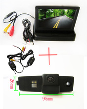 Wireless Color CCD Chip Car Rear View Camera for Toyota Highlander Kluger Lexus RX300 +  4.3 Inch foldable LCD TFT Monitor