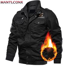 MANTLCONX 6XL Military Jacket Men Winter Casual Thick Thermal Coat Army Pilot Jackets Air Force Cargo Jacket Windbreaker Pakas