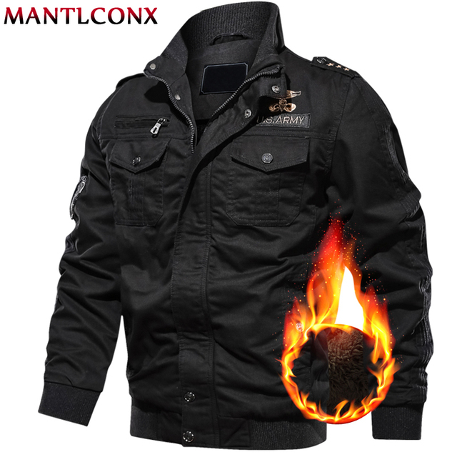MANTLCONX 6XL kurtka wojskowa mężczyźni zima dorywczo gruby płaszcz termiczny armia kurtki pilotki Air Force kurtka Cargo wiatrówka Pakas